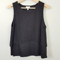 WITCHERY | Womens Black Crochet detail Top [ Size M or AU 12 / US 8 ]