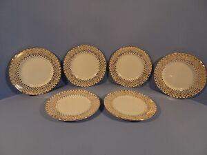 ROYAL STANDARD  FINE BONE CHINA, ELEGANT GILDED DESIGN 997, SET OF TEA PLATES