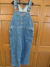 Denim Bib Overalls men's size 38 x 32 Dickies brand dark blue