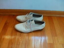 costume national homme mens cream white leather shoes size 11 US or 44