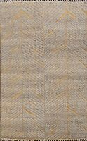 Chevron  Moroccan Oriental Area Rug Wool Hand-Knotted Home Decor Carpet 5x8 ft