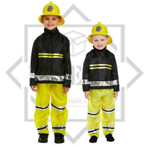Fireman Fancy Dress Costume Boys Kids  Book Week Fire Fighter Uniform Outfit