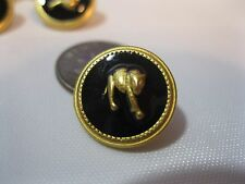 (8 pcs) New Metal Round Sewing Buttons GOLD CAT Cougar Tiger Leopard