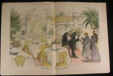 Hotel Prosperity Booked Financial Giants 1909 antique color lithograph print