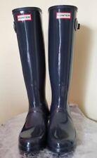 Hunter Original Gloss Rain Boots Dark Gray Size 8