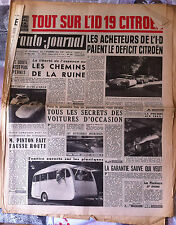 b)L'AUTO-JOURNAL n°174 du 5/1957; ID 19 Citroën/ Spécial Occasion/ Caravane