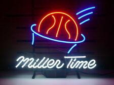 "New Miller Lite Time Basketball Beer Man Cave Bar Neon Light Sign 20""x16"""