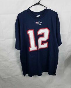 NWT Majestic New England Patriots Tom Brady #12 Jersey Shirt Mens Size 2XL
