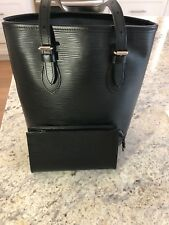 Rare Discontinued Authentic LOUIS VUITTON Black Epi Leather Petite Bucket Bag