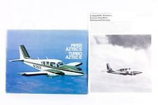 PIPER Vintage AZTEC E Turbo Brochure & Spec Sheet 1975 Color Rare USA Gift