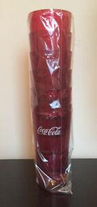 New (6) Coke Coca Cola Restaurant Red Plastic Tumblers Cups 20 oz Carlisle