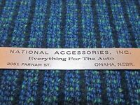 "Vintage NATIONAL ACCESSORIES Everything Auto Advertising 6"" Ruler Omaha Nebraska"