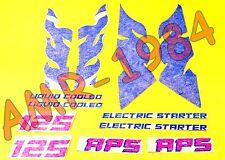 Série Décalcomanies Kit Autocollant Fiancatine Aprilia Tuareg 125 de 1987 Rouge