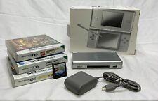 Nintendo DS Lite USG-001 Handheld System-Silver Bundle W/ 4 Games