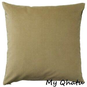 "Ikea SANELA Pillow Cushion Cover 20"" x 20"" Velvet Cotton Olive Green"