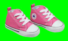 Converse Crib First Star Boys Girls Trainers Baby Canvas Shoes Size 1-4 Pink UK 1 - EU 17