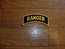 """U.S MILITARY ARMY RANGER ROCKER PATCH OVERSIZE 4"""" INCHES X 1 1/4"""" INCHES"""