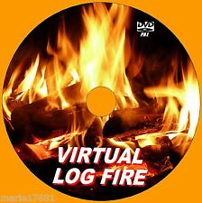 VIRTUAL CRACKLING LOG FIRE VIDEO DVD 9 GLOWING FIRE SCENES  FOR LED PLASMA TVNEW