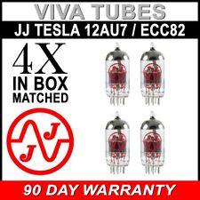 Brand New Gain Matched Quad (4) JJ Tesla Electronics 12AU7 / ECC82 Vacuum Tubes