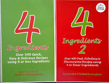 4 INGREDIENTS + 4 INGREDIENTS 2 - FREE POST - McCosker/Bermingham - 2 books