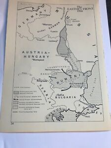 Map Of The Dardanelles 1915 & Eastern Front 1916 Bulgaria Russia Rumania Print