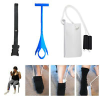 Sock & Stocking Puller Assistant Aid Easy On & Off Compression Sock Helper Kits