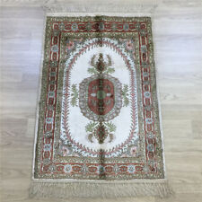 Yilong 2'x3' Floral Hand knotted Area Rug Home Handmade Bedroom Silk Carpet 025C