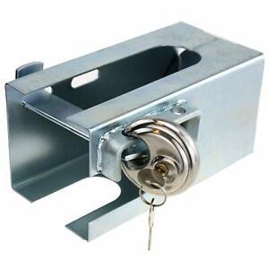 Caravan AlKo Hitch Lock with Disc Padlock - High Security Hitchlock -  CRUSADER