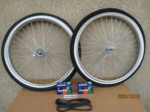 NEW  26'' X 2.125 HEAVY DUTY CHROME BICYCLE RIMS FOR CRUISER, CHOPPER, LOWRIDER