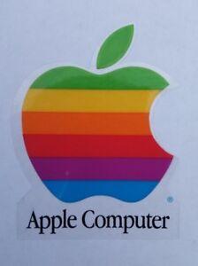 VTG MACINTOSH APPLE MAC 1990s RAINBOW LOGO COMPUTER WINDOW DECAL STICKER NOS