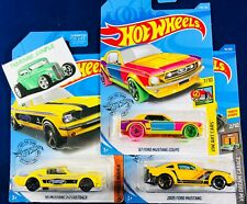 Hot Wheels - Lot of 3 - FORD MUSTANG - '65 - '67 Art - '05 Dream Garage - B172