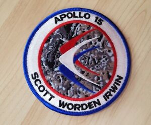 Nasa Apollo 15 Crew Patch bestickt offiziell, David Scott Al Worden James Irwin