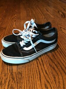 Vans Black and White Suede Old Sokol size 7.5 women's sneakers- Quick ship