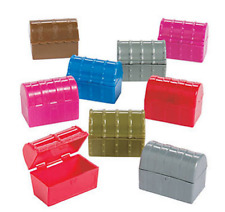 Pack of 9 - Mini Treasure Chests - Pirate Sea Life Party Bag Fillers
