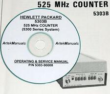 HP Hewlett Packard 5303B 525 MHz Counter Operating & Service Manual + schematics
