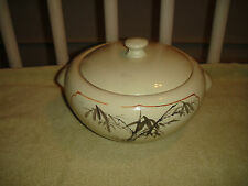 Rare Chinese Or Japanese Lidded Pottery Bowl-Pointed Interior-Marked Bottom