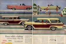 1957 Ford Lincoln Convertible-Thunderbird-Country Squire-Colony Park PRINT AD