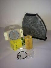 Filter Set Inspektionskit Mercedes Benz W212 S212 Ölfilter + Luftfilter + Aktiv