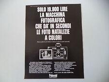 advertising Pubblicità 1969 POLAROID COLORPACK II