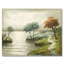 ORIGINAL Painting on Canvas Hand Signed by J. Morel Famous Moonlit Landscapes