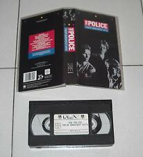 Vhs THE POLICE Their greatest hits – STING OTTIMO 1 ed 1986