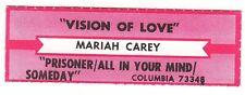 Juke Box Strip MARIAH CAREY - Vision Of Love / Prisoner/All In Your Mind/Someday