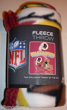 NFL NIB 50x60 ROLLED FLEECE BLANKET GRIDIRON DESIGN - WASHINGTON REDSKINS