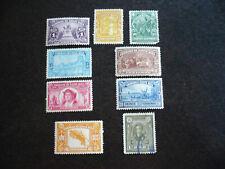 Stamps - Costa Rica - Scott# 117-120, 122 & 124-127