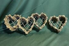 Woven Natural Grapevine Heart Wall Hangings