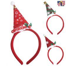 3 X Lot Sparkle Ear Santa Clause Hat Cap Christmas Headband hair band costume