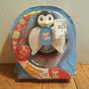 New Fisher Price See N' Say JR Junior Surprise Penguin Learn & Play 2008 Mini