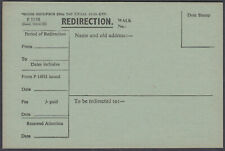 1947 Unused Redirect Form; appears printed the same both sides