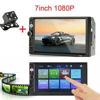 "7"" HD Bluetooth Car Stereo Radio Touch Screen 2 DIN MP5 FM Player W/Rear Camera"
