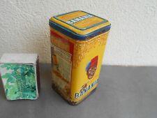 Ancienne boîte de BANANIA jaune de 500 g  pour série pots épices SUCRE POUDRE